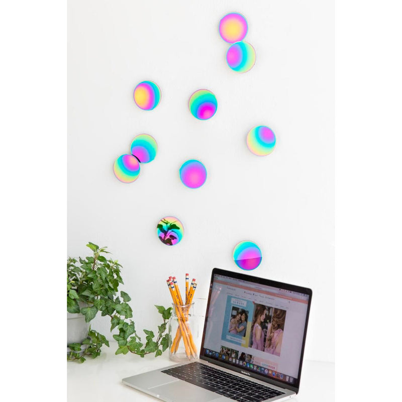 Umbra Confetti Dots wall decor, set of 10, rainbow