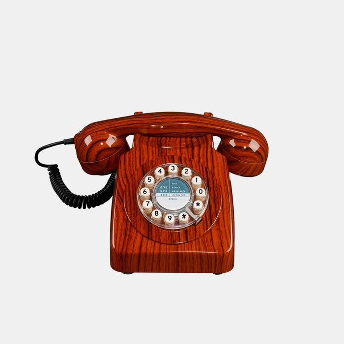 Wild and Wolf Retro 746 Telephone . Wood