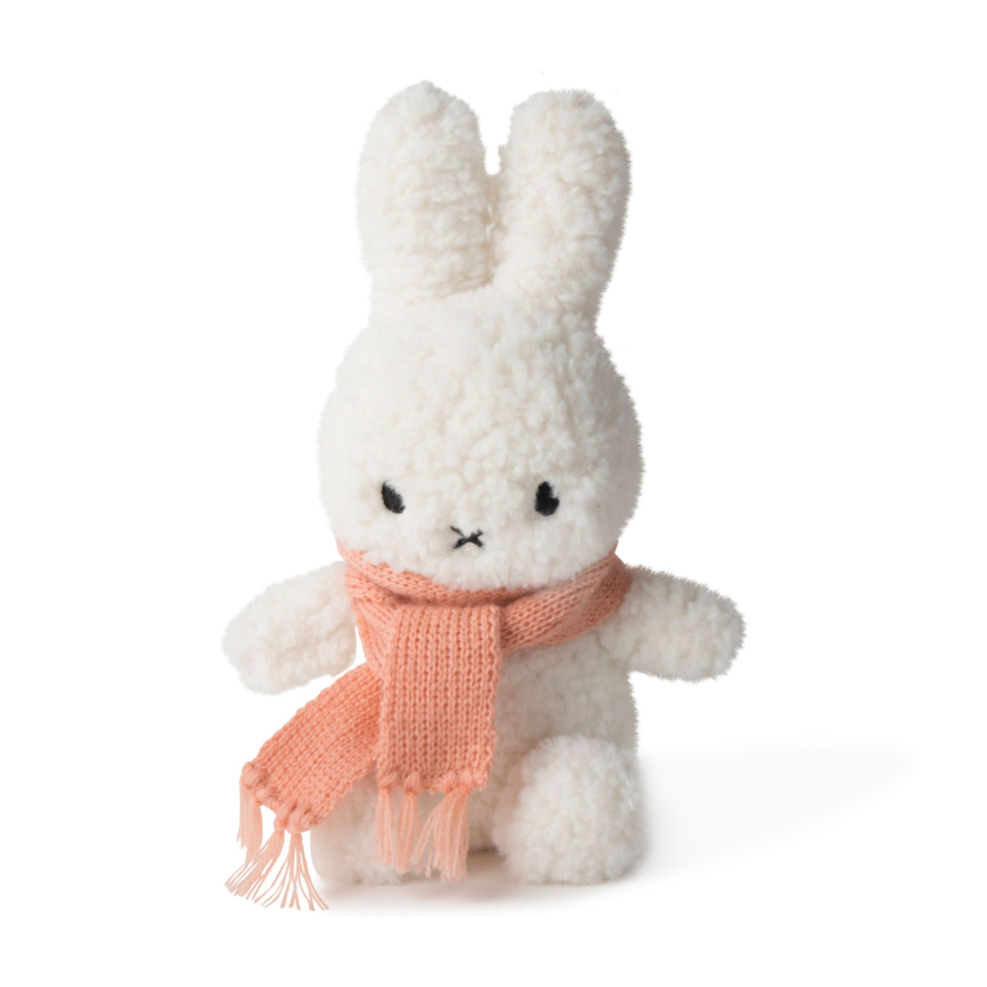 Miffy Popcorn w. Scarf Terry Plush 23cm , peach