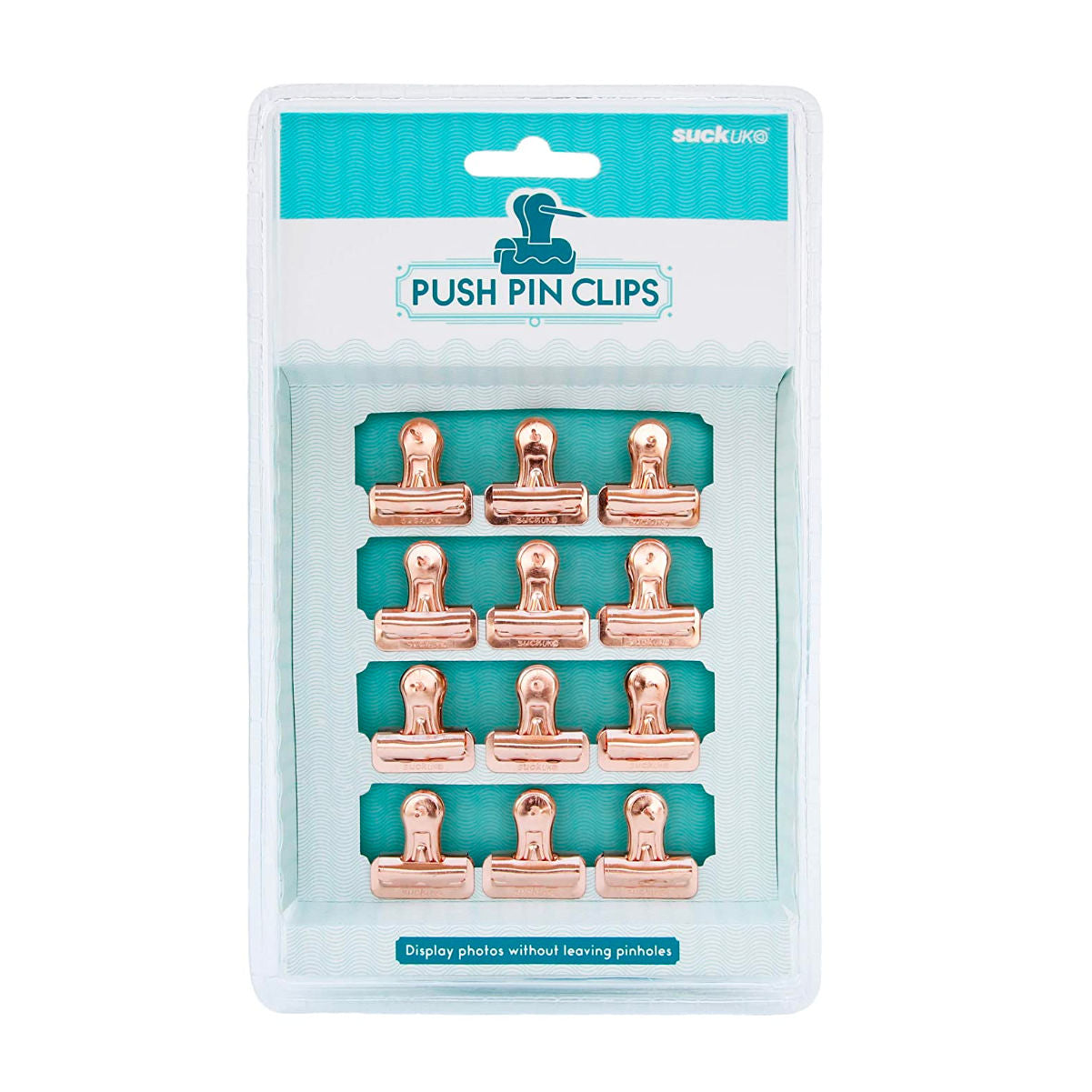 Suck UK Bulldog Clips push pins, 12 pack