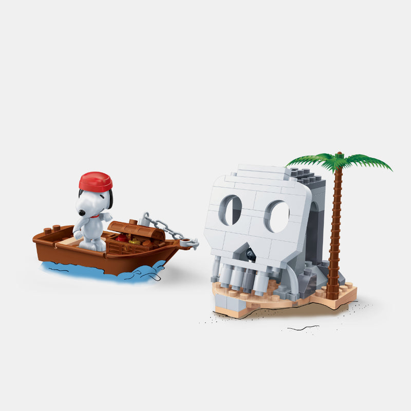 Snoopy Pirate Boat Brink Toy