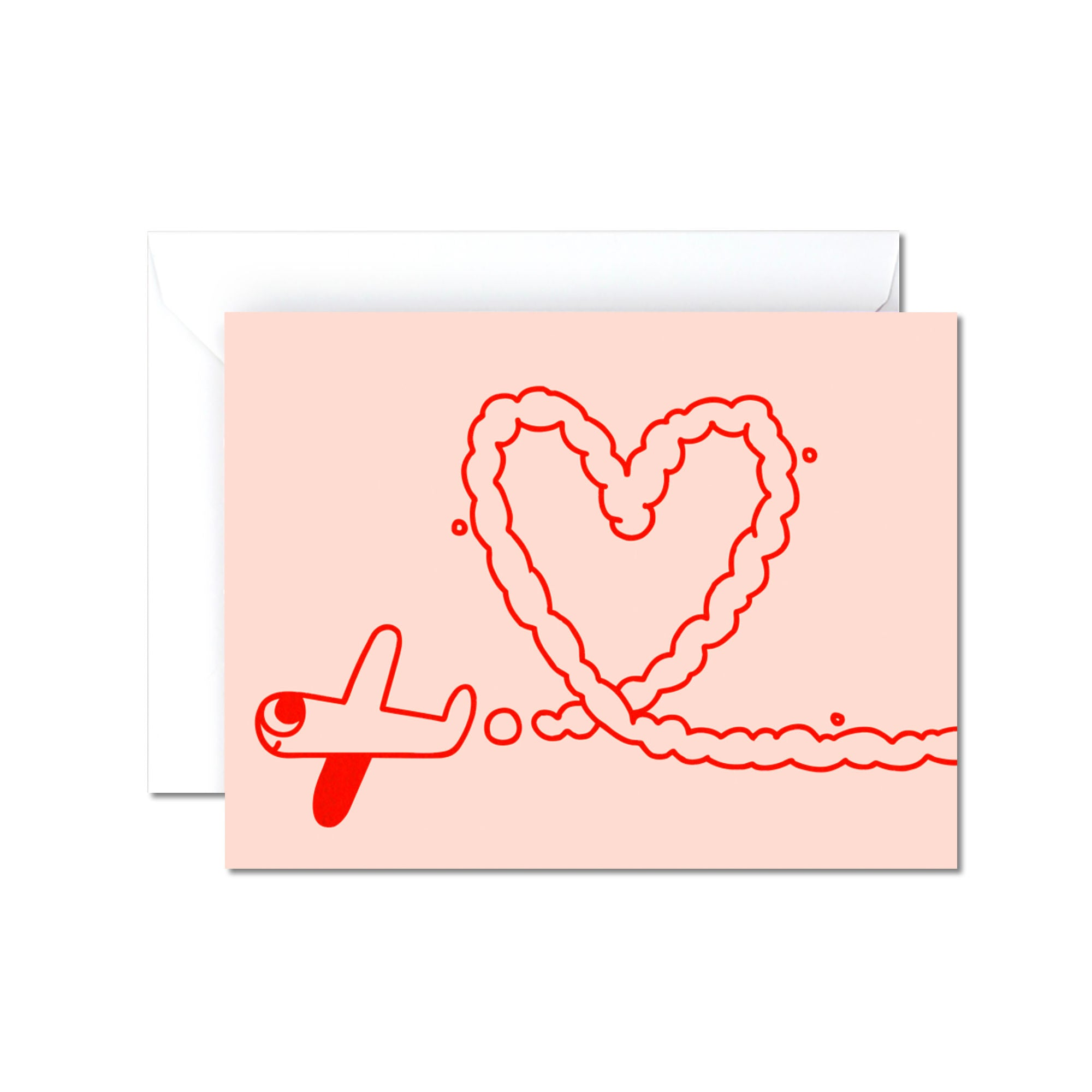 Warp Magazine Plane Heart Card