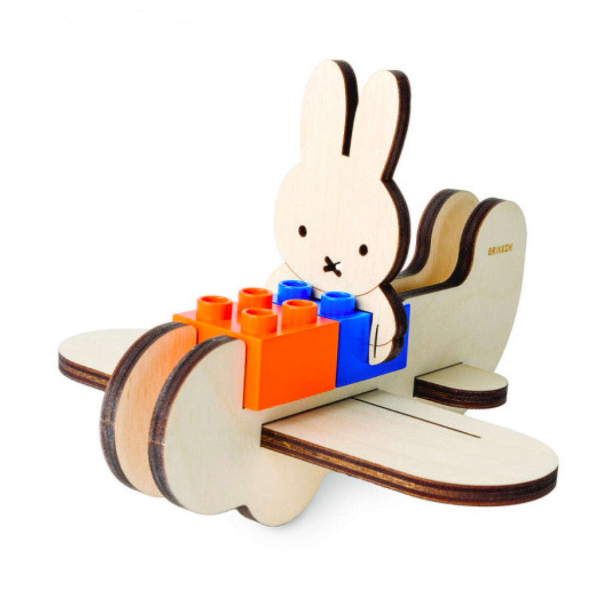 Biobuddi Miffy Plane brick toy