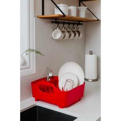 Umbra Tub Dish Rack , Red