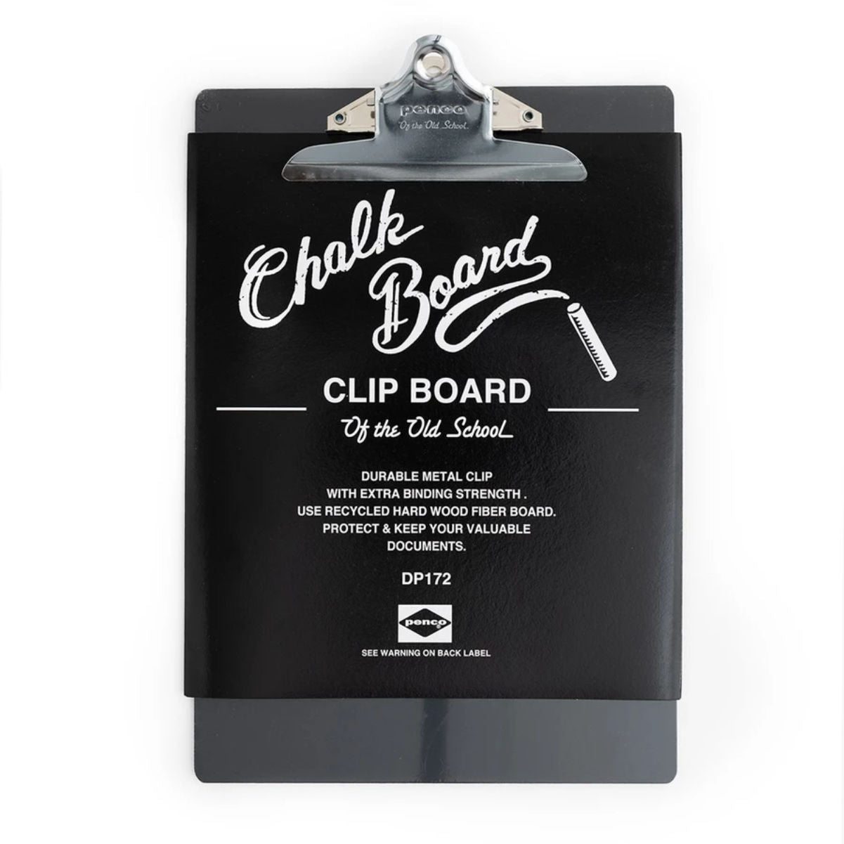 Penco Chalk Clip Board, black