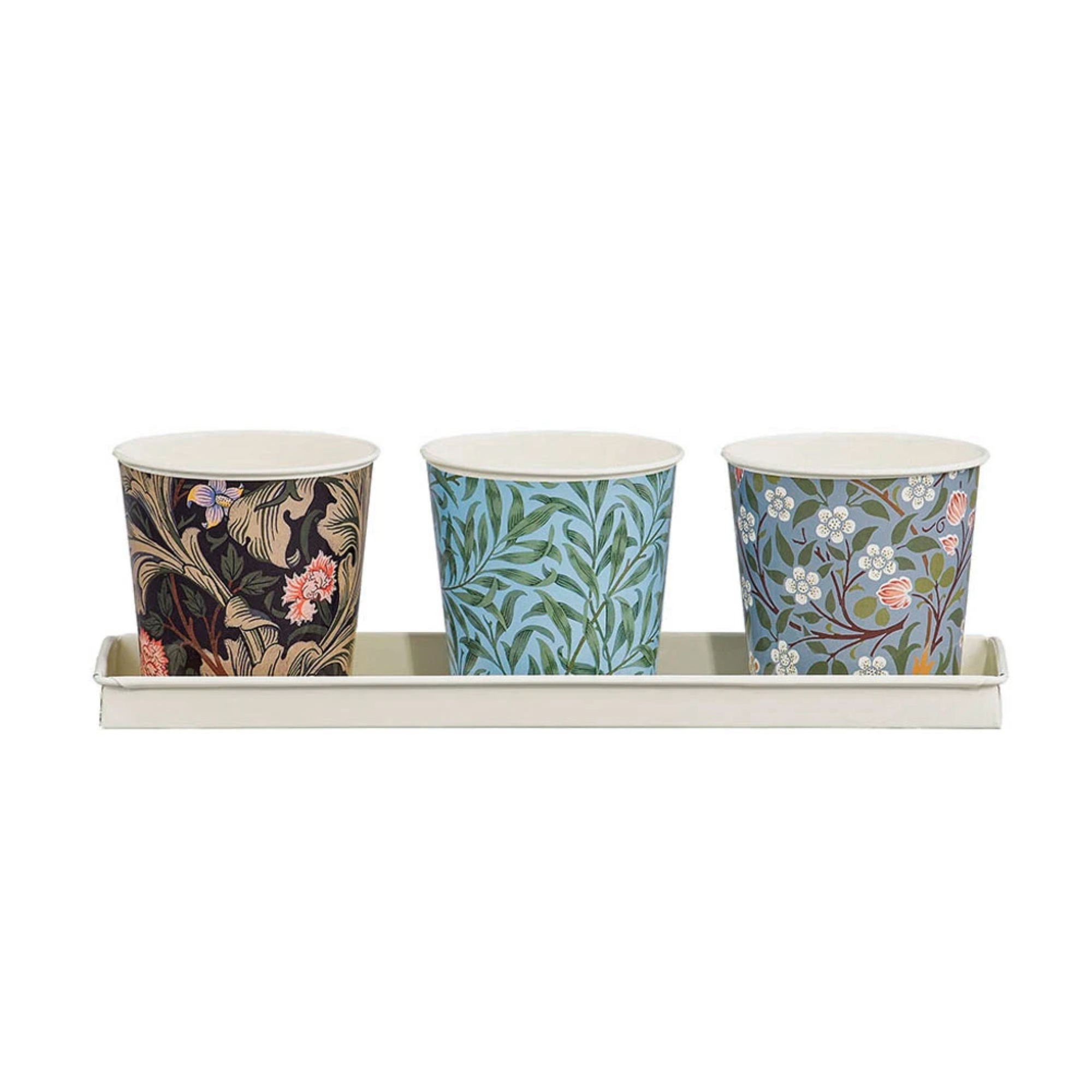 V&A William Morris Plant Pots Set of 3