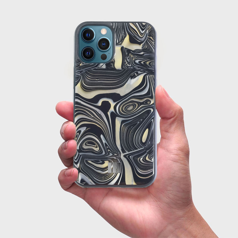 Mother Of Pearl Case for iPhone 12/12 Pro , Alchemy Black