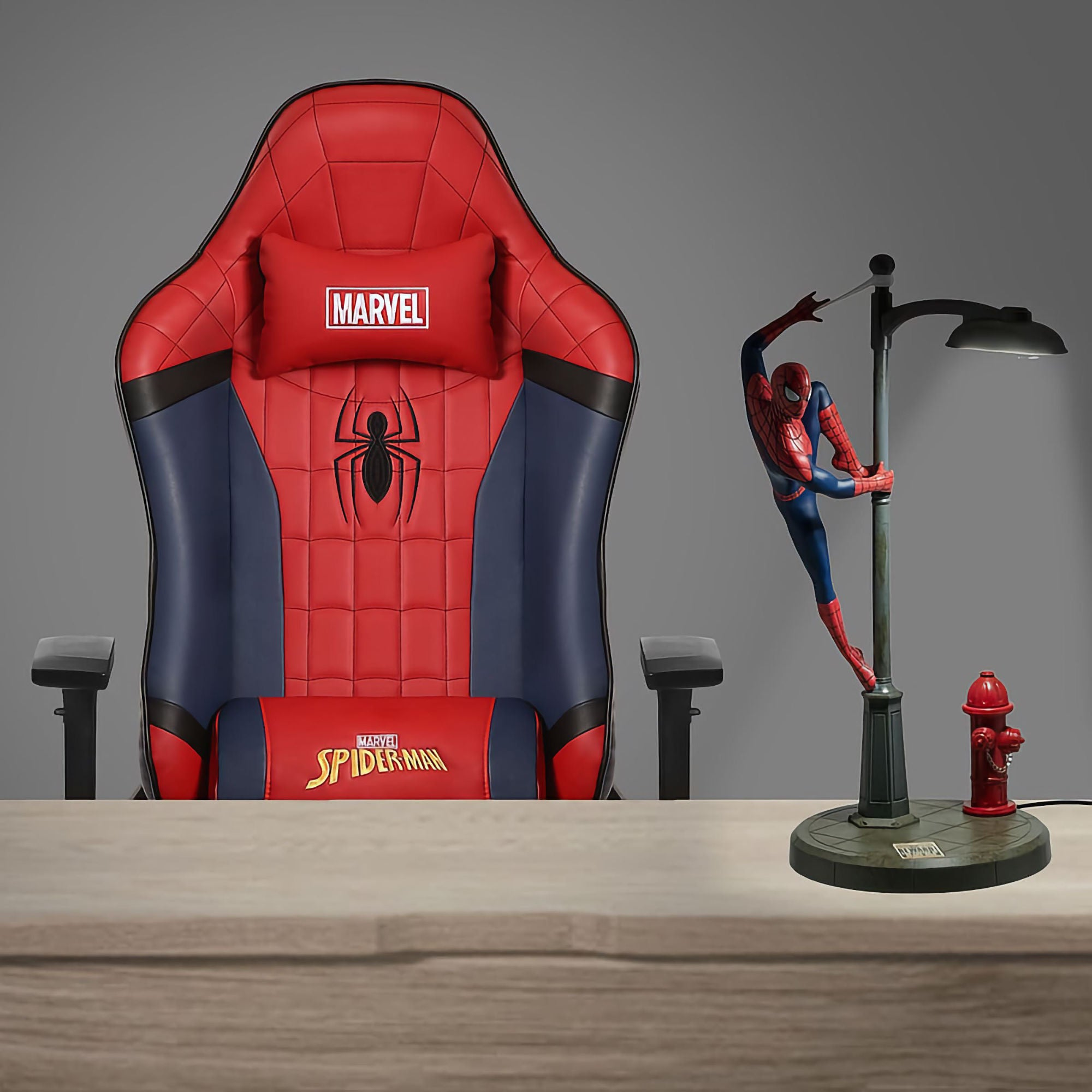 Marvel Avenger Spider Man Gaming Chair + Lamp Combo