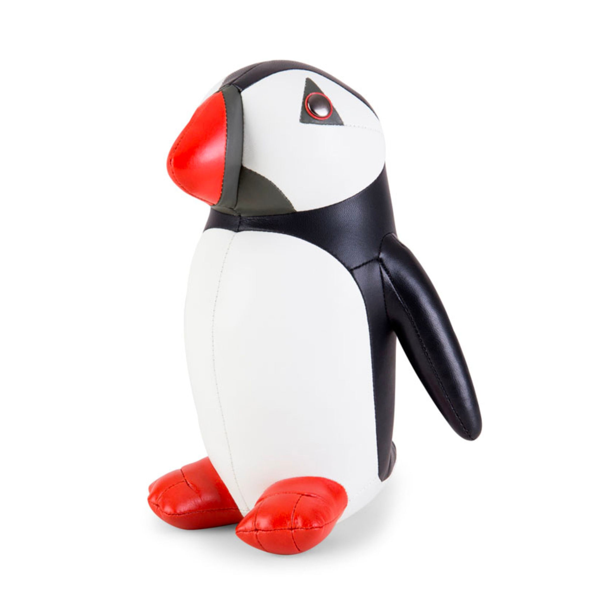 Zuny Classic Puffin bookend, black - white