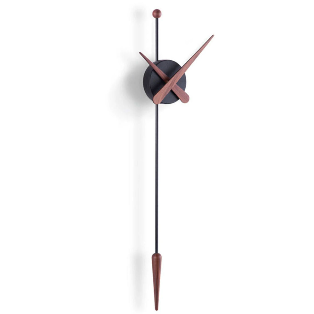 Nomon Punta Wall Clock , Walnut-Black