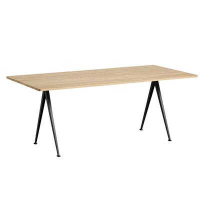 Hay Pyramid table 02, black, matt lacquered oak