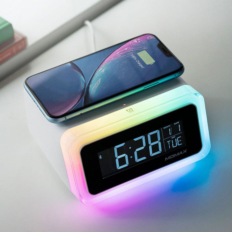 Q.Clock 2 Digital Clock with Wireless Charger