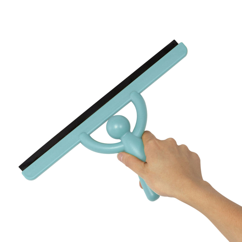 Umbra Buddy mirror squeegee, surf blue