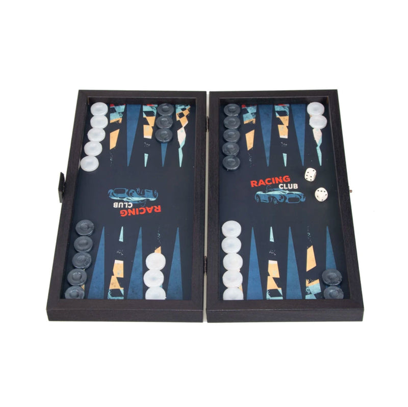 Manopoulos Travel Size Backgammon Racing Car