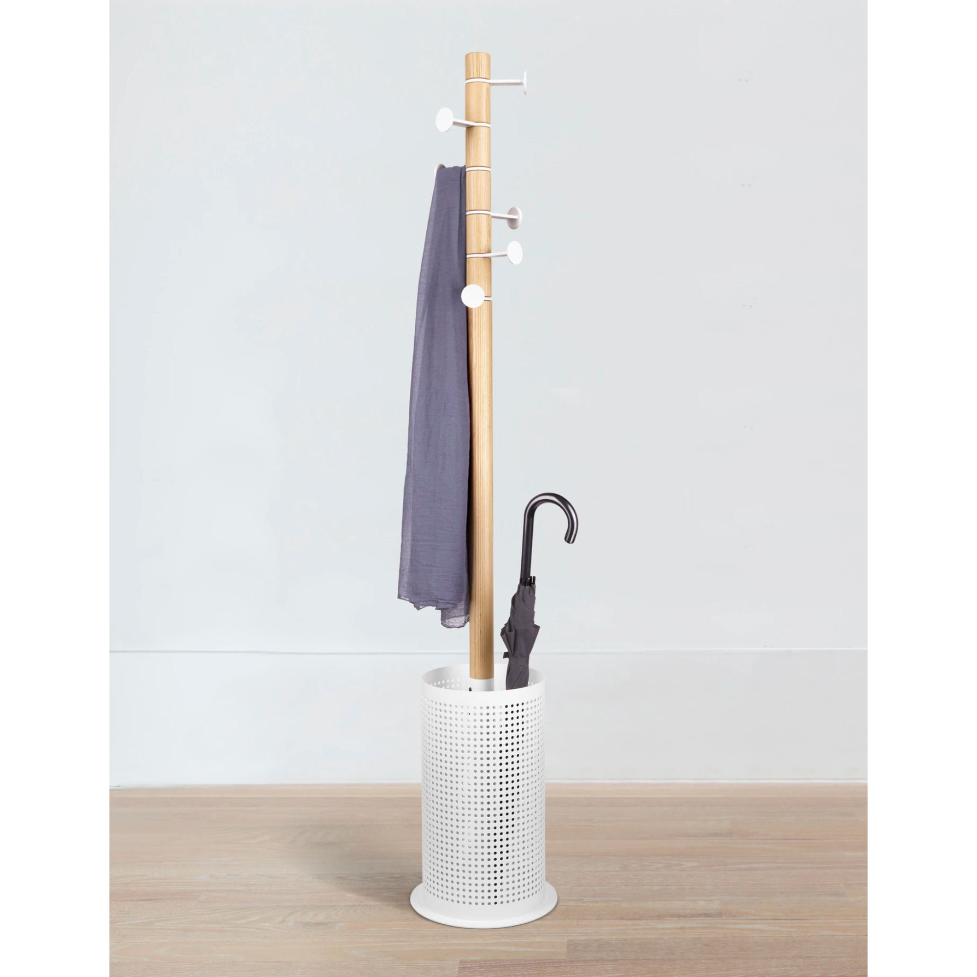 Umbra Promenade Coat Rack , Natural-White