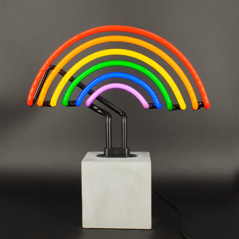 Locomocean Neon Table Lamp , Rainbow Sign
