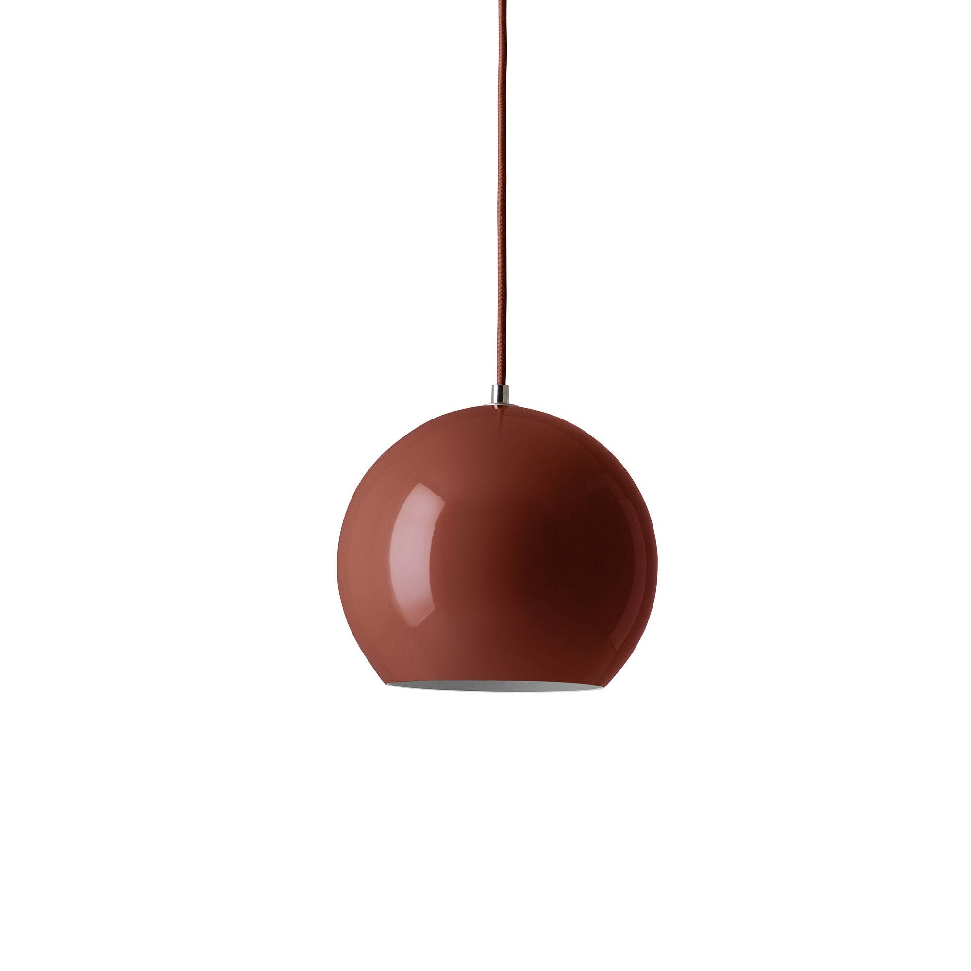 &Tradition VP6 Topan pendant lamp, red brown