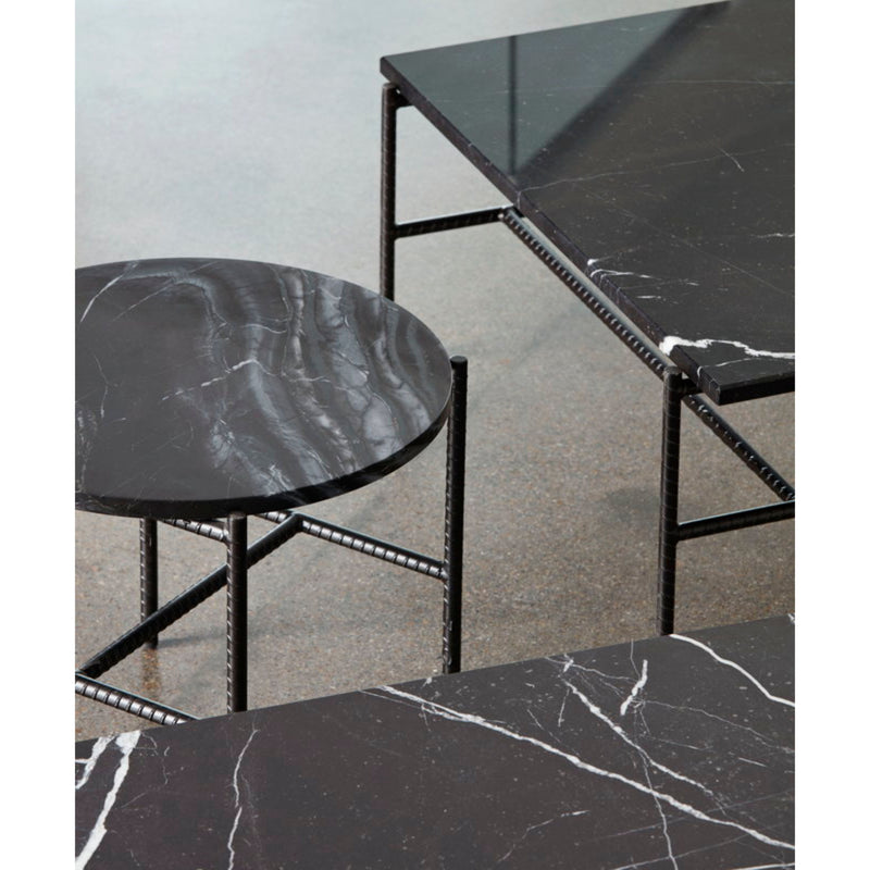 Hay Rebar Round Side Table Φ45 , Black Marble
