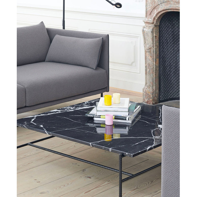 Hay Rebar Square Coffee Table L80xW84 , Black Marble