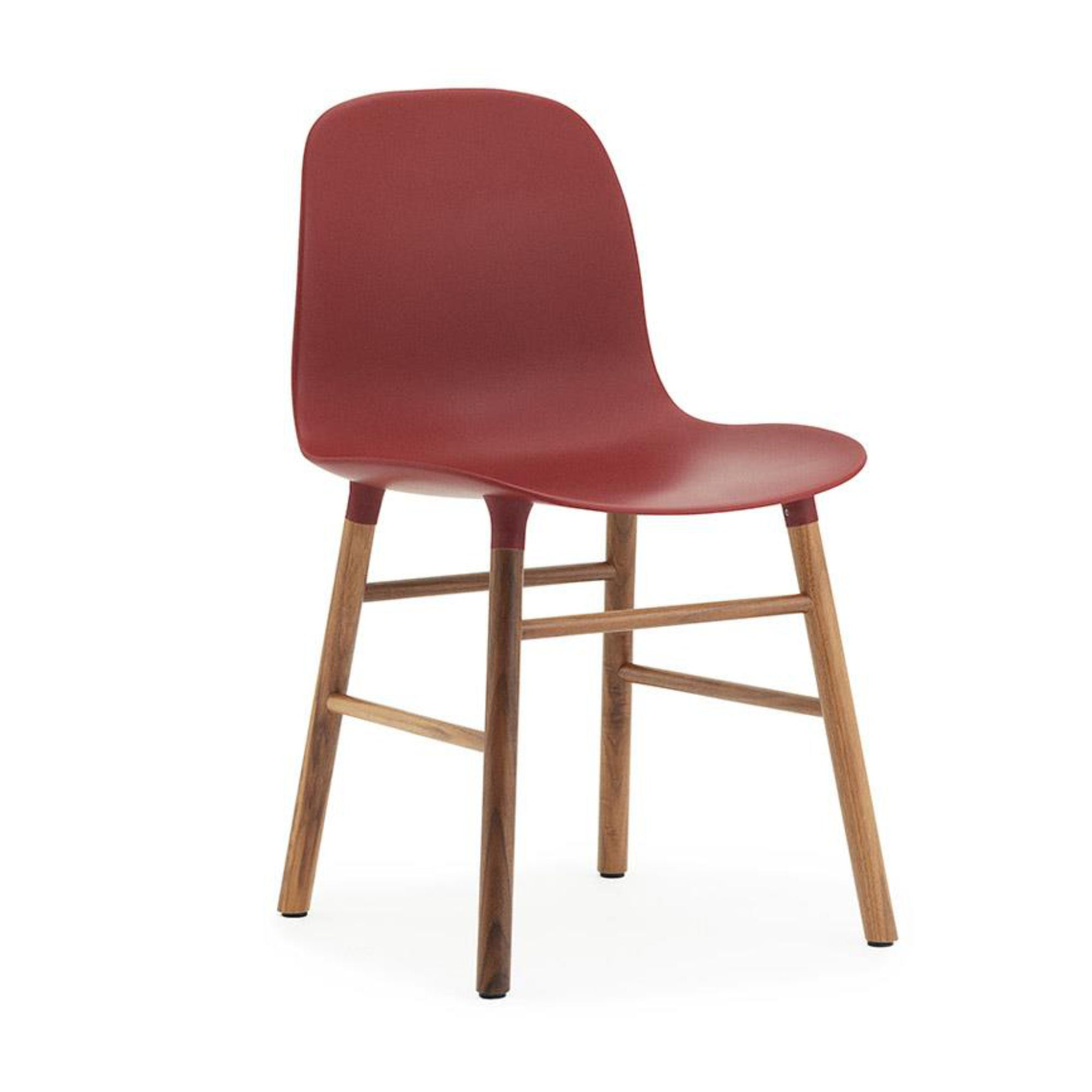 Normann Copenhagen Form Chair , Walnut/Red