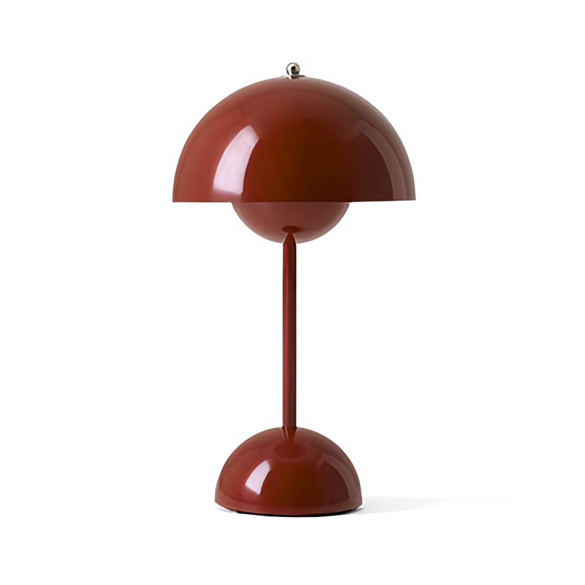 &Tradition VP9 Flowerpot Rechargeable Lamp , Red Brown