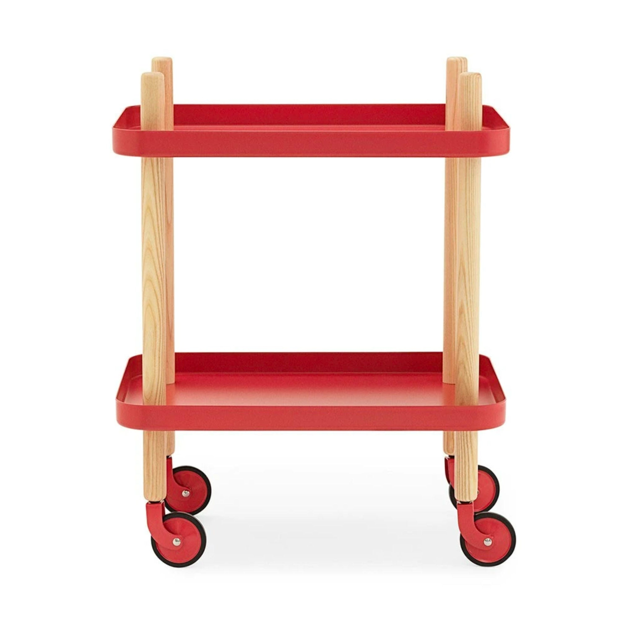 Normann Copenhagen Block Table , Red-Oak