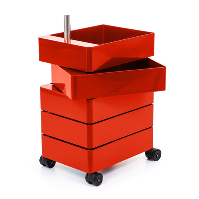Magis 360° Container by Konstantin Grcic 5 Drawers Red