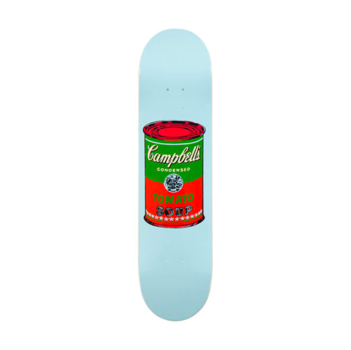 The Skateroom skateboard, Andy Warhol Colored Campbell's Soup red