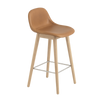 Muuto Fiber Counter Stool with Backrest Wood Base 65cm