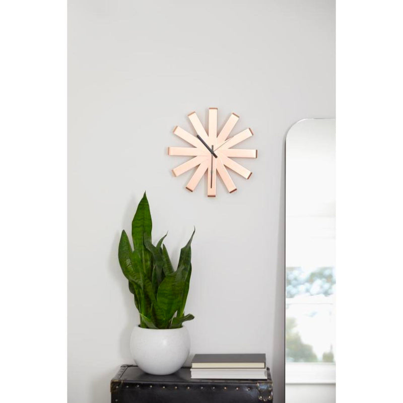 Umbra Ribbon wall clock, copper