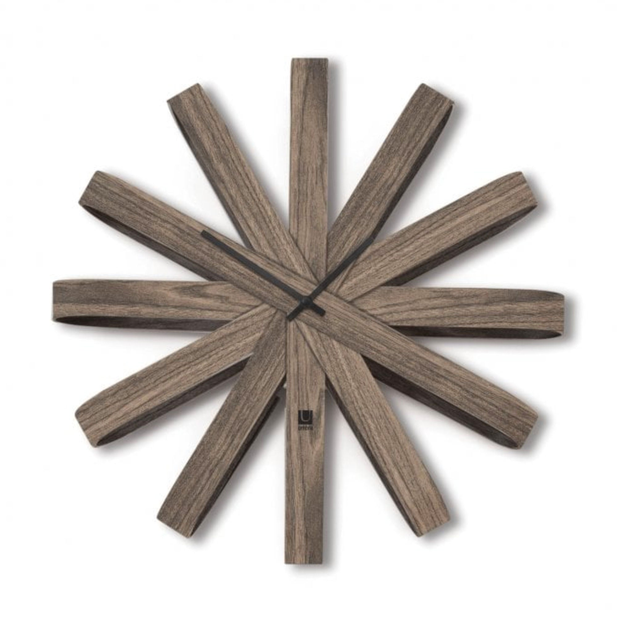 Umbra Ribbon wall clock, walnut