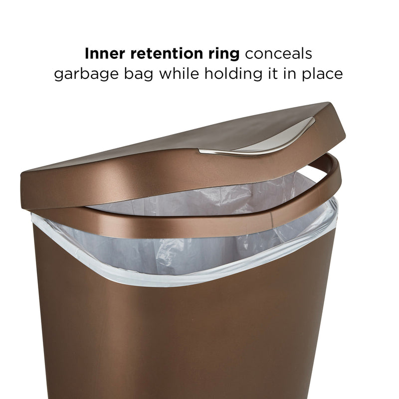 Umbra Brim Trash Can 50L , Bronze