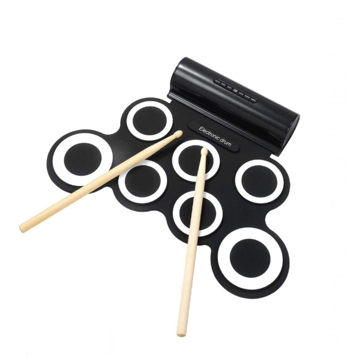 Portable Roll-Up Drum , Black and White