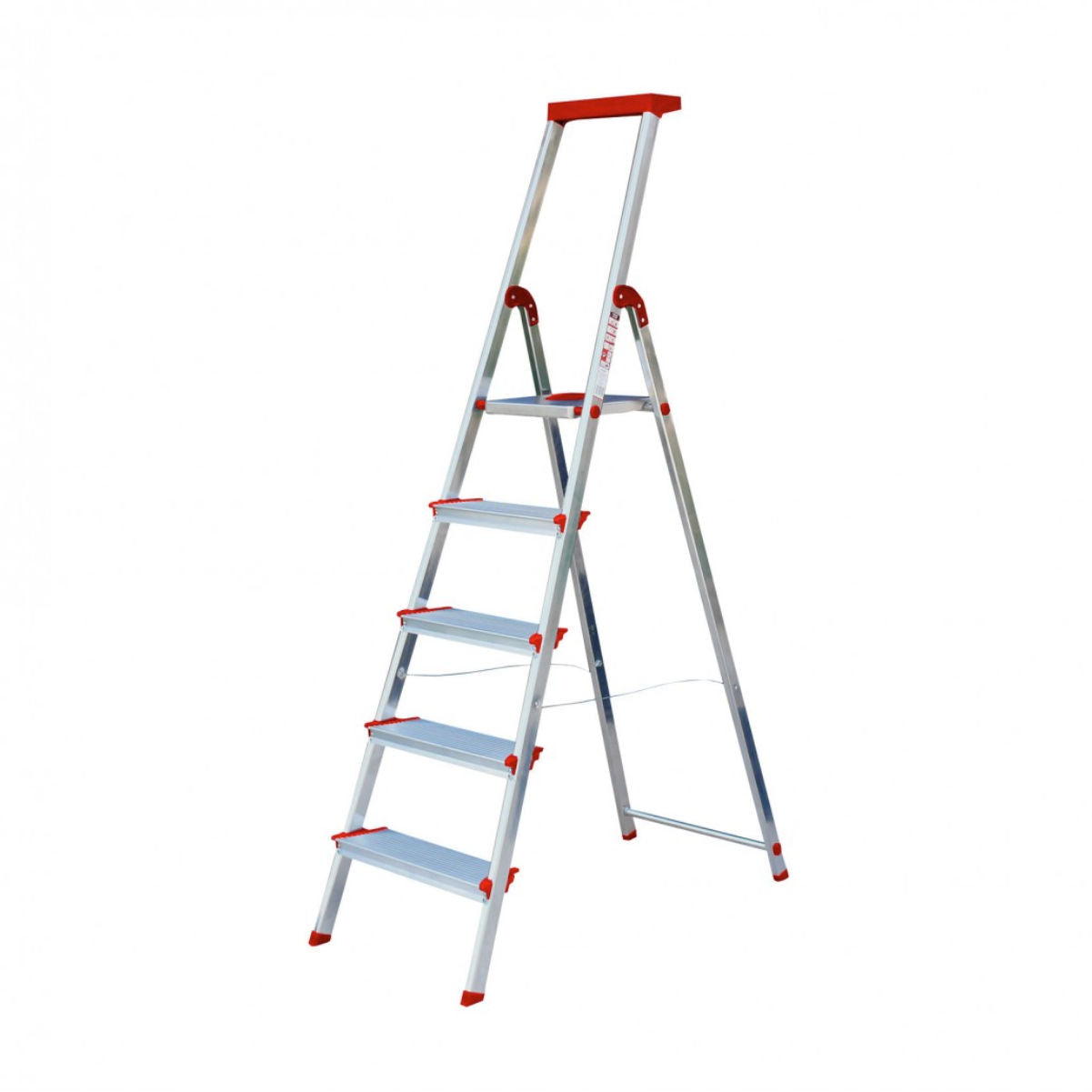 Rolser Brico 220 step ladder, 5 wide steps, aluminum