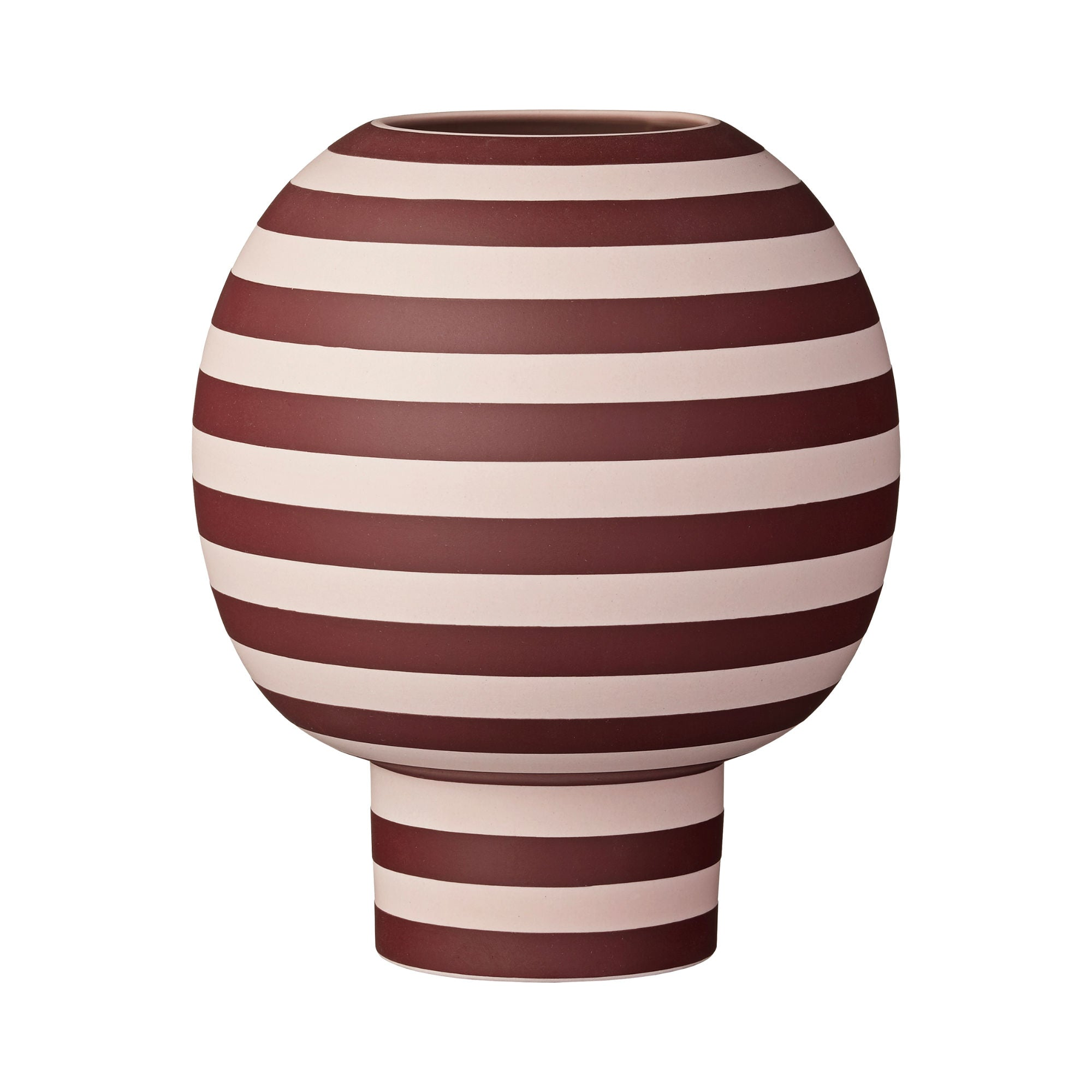 Aytm Varia Sculptural Vase , Rose-Bordeaux