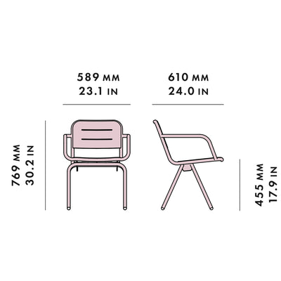 Woud Ray Dining Chair , Rose Pink
