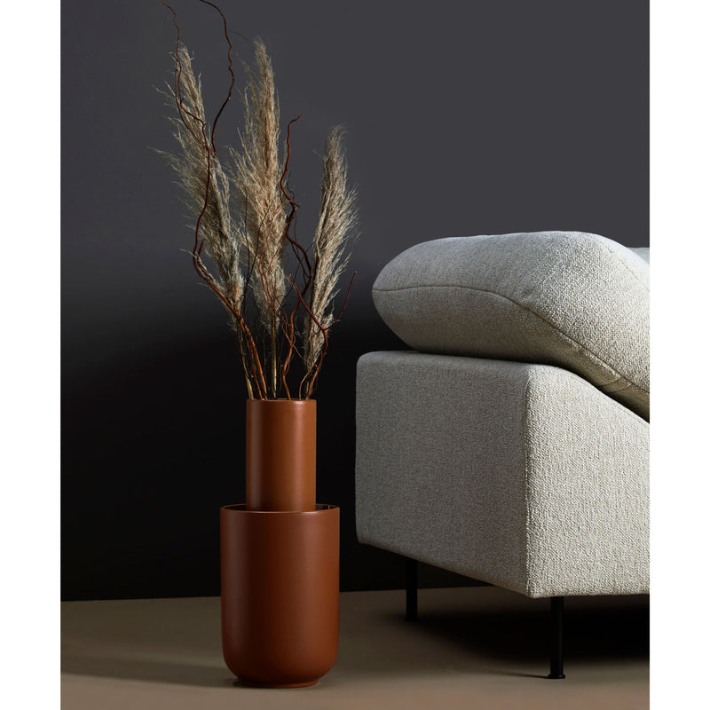 Woud Amel Vase Large , Rust Glazed
