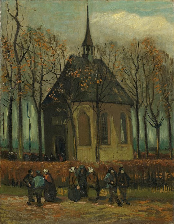 Van Gogh IXXI Congregation Leaving the Reformed Church in Nuenen