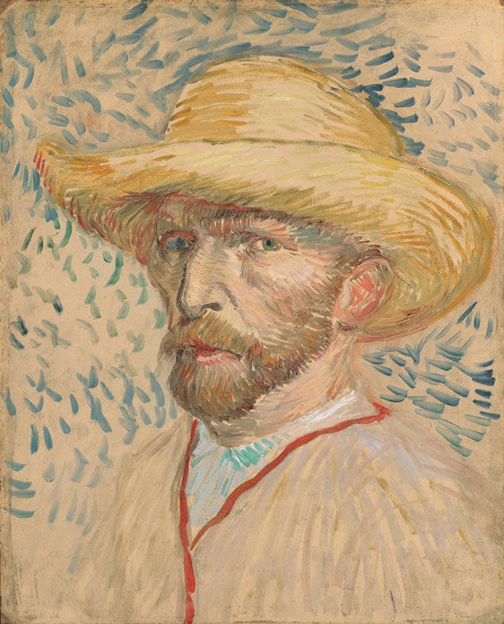 Van Gogh IXXI Self-portait with Straw Hat