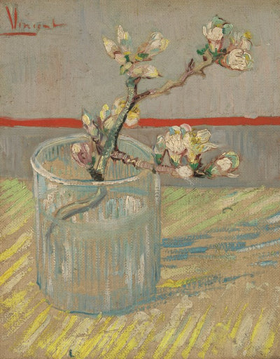 Van Gogh IXXI Sprig of Flowering Almond Blossom in a glass