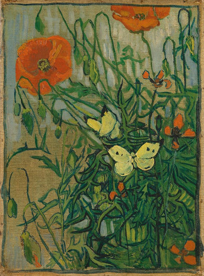 Van Gogh IXXI Butterflies and Poppies