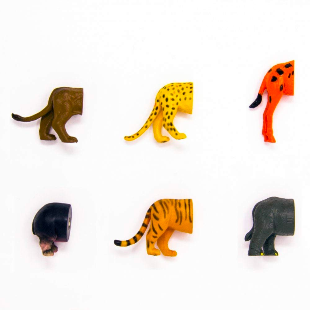 Kikkerland Safari Butt Magnets Set Of 6