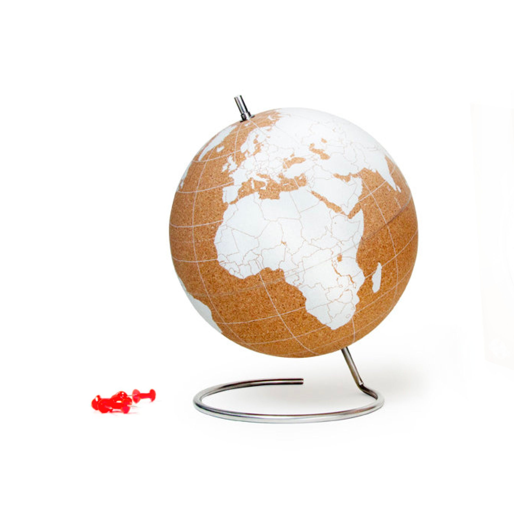 Suck UK Cork Globe Small , White