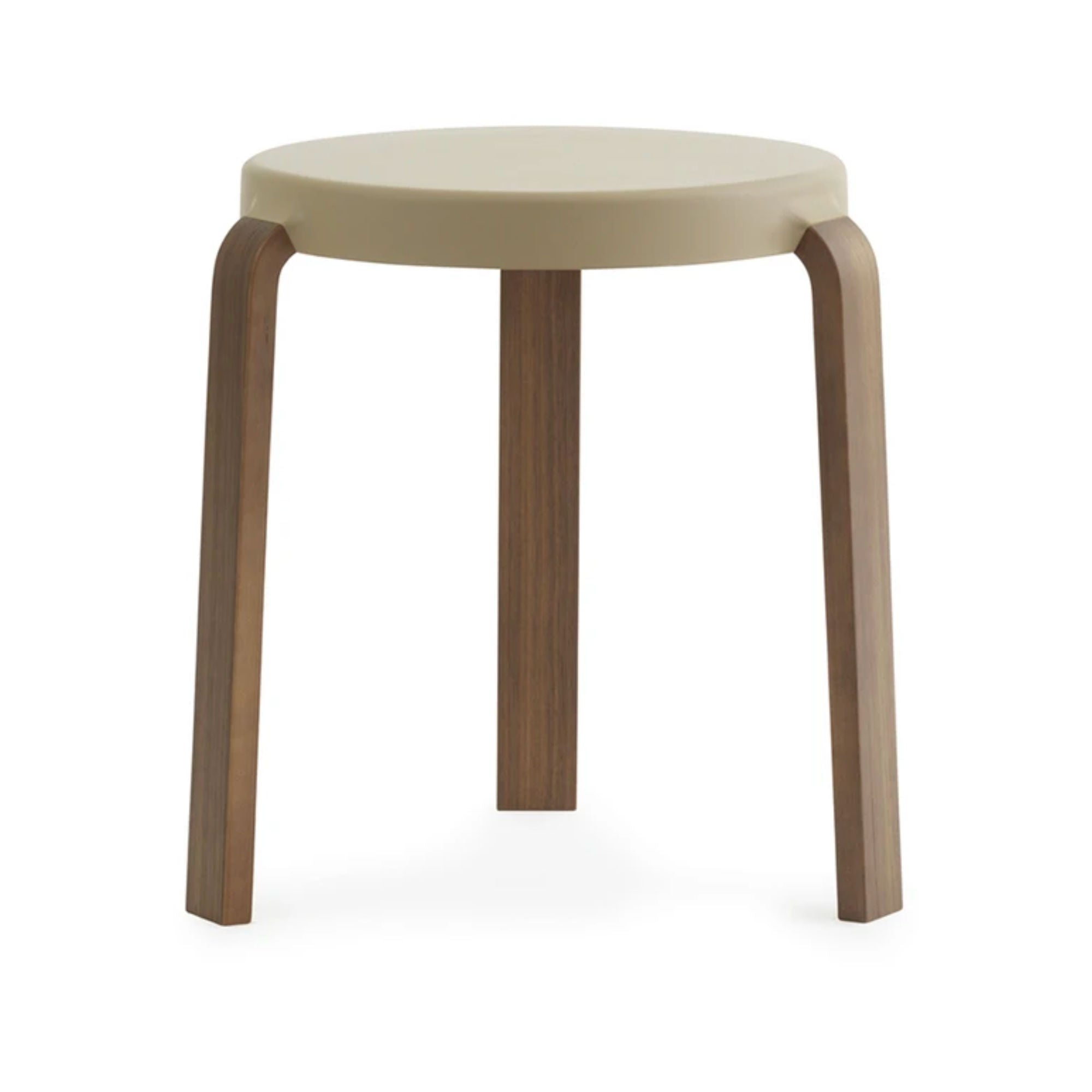 Normann Copenhagen Tap Stool , Sand - Walnut