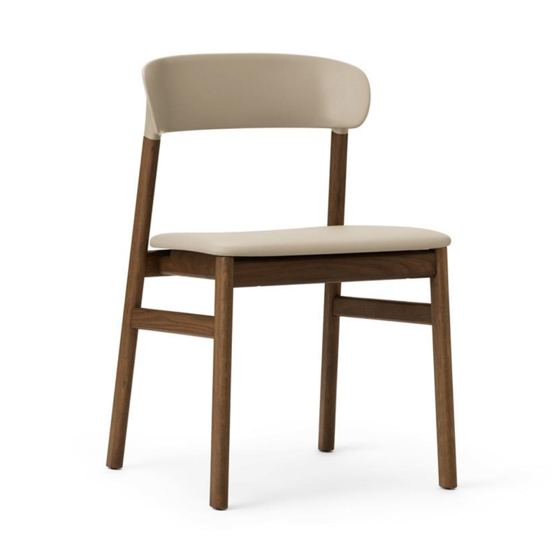 Normann Copenhagen Herit chair, smoked oak, leather