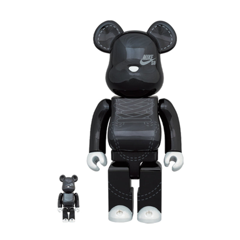 BE@RBRICK Nike SB Black 100% & 400%