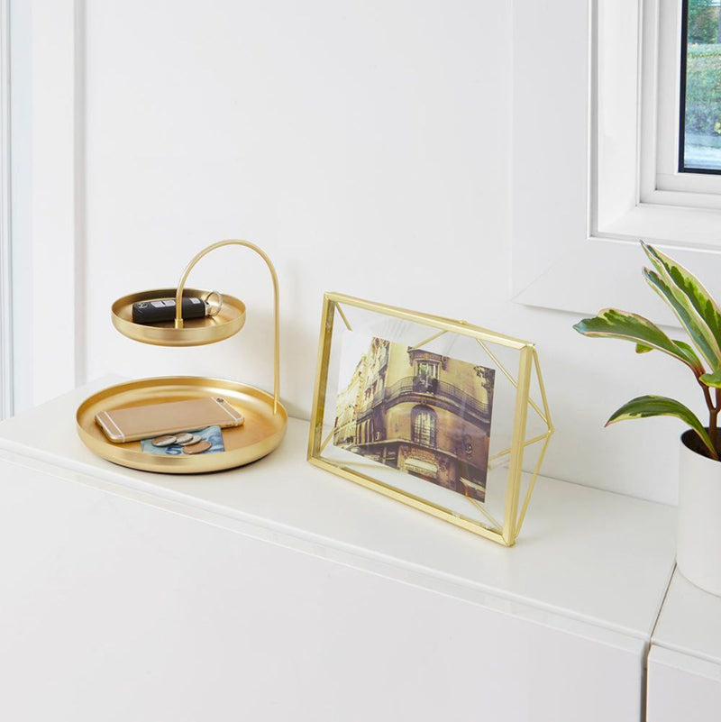 Umbra Poise accessory tray, brass