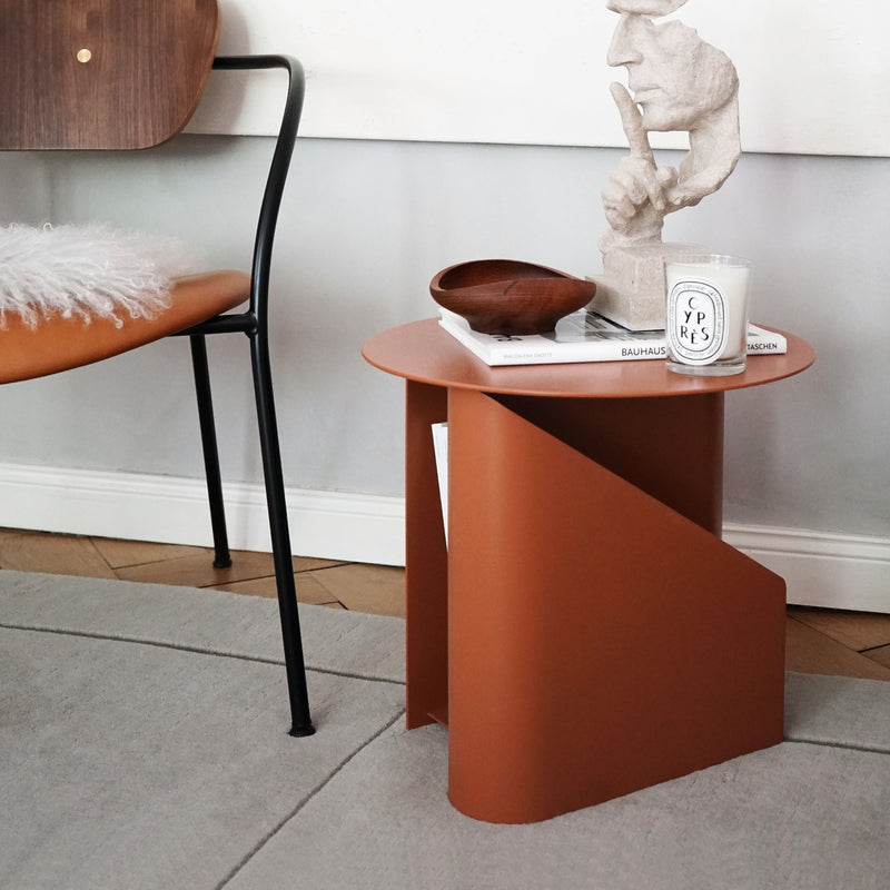 Woud Sentrum Side Table , Burnt Orange