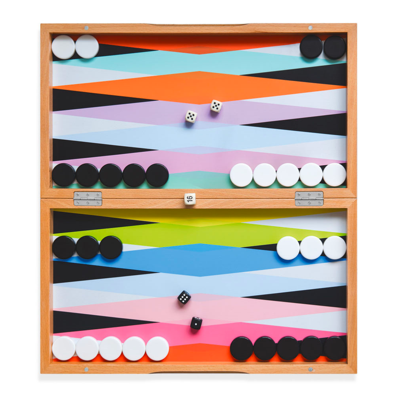 Moma Colorful Backgammon Set