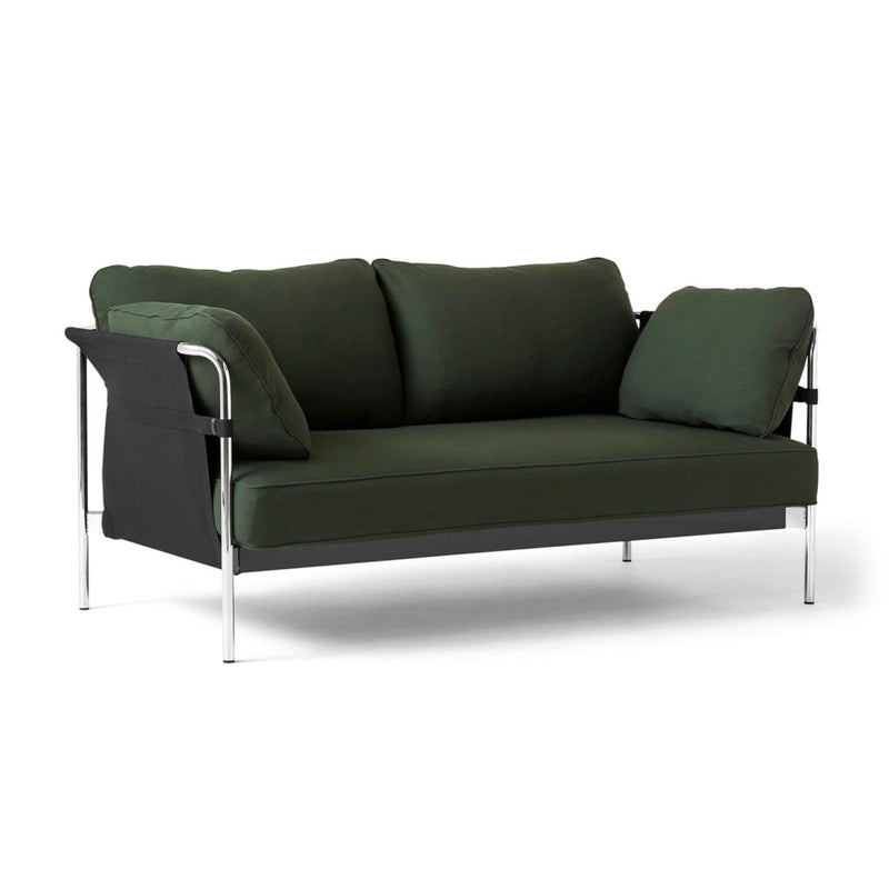 HAY Can 2-Seater Sofa 2.0, chrome - black - steelcut975